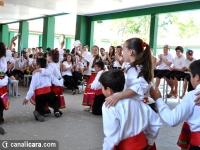 Salete Scotti recebe estudantes gaúchos