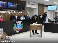 Dalvania e Jandir são empossados junto com 15 vereadores