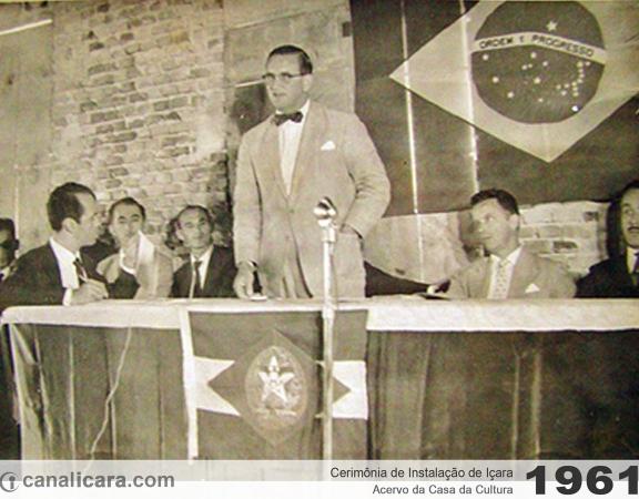 1961: Cerimônia de Instalação de Içara