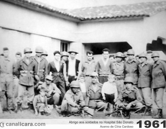 1961: Abrigo aos soldados no Hospital São Donato