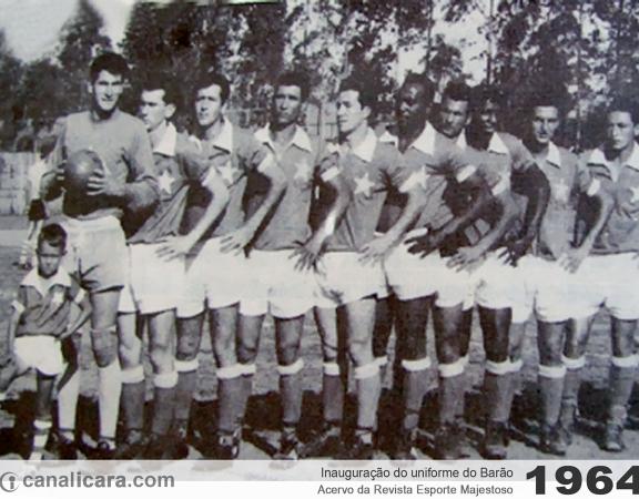 1964: inauguração do uniforme do Barão