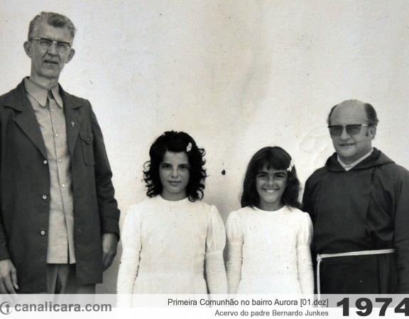 1974: Primeira Comunhão no bairro Aurora