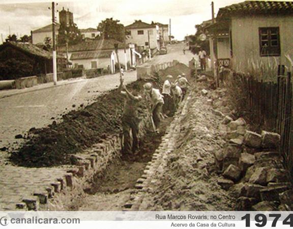 1974: Rua Marcos Rovaris, no Centro