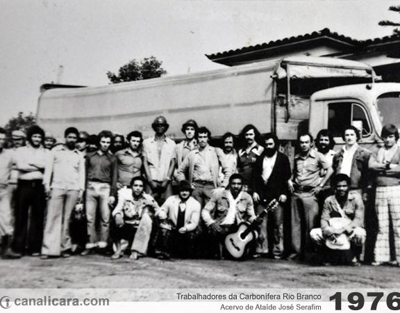 1976: Trabalhadores da Carbonífera Rio Branco