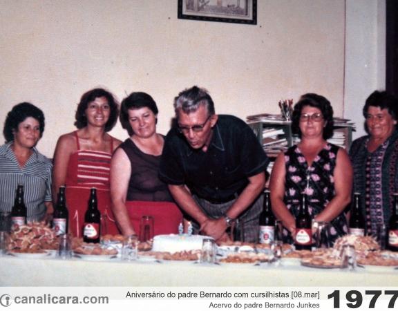 1977: Aniversário do padre Bernardo Junkes