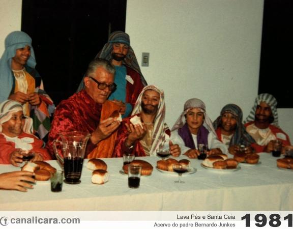 1981: Lava pés e Santa Ceia