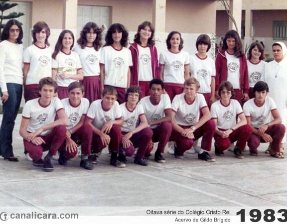 1983: Oitava série do Colégio Cristo Rei