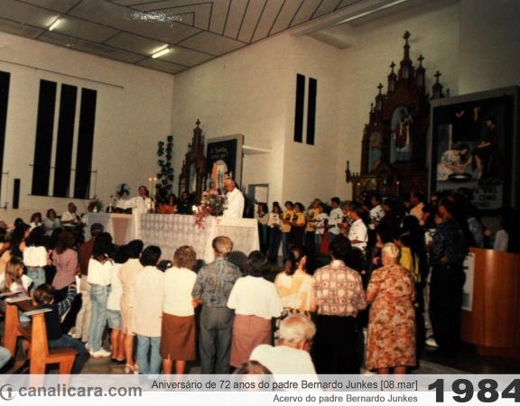 1984: Aniversário de 72 anos do padre Bernardo Junkes