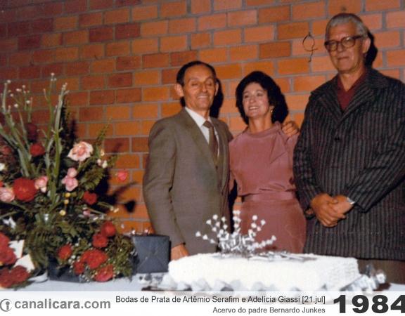 1984: Bodas de Prata de Artêmio Serafim e Adelícia Giassi