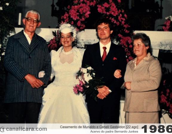 1986: Casamento de Murialdo e Ceneli Gastaldon