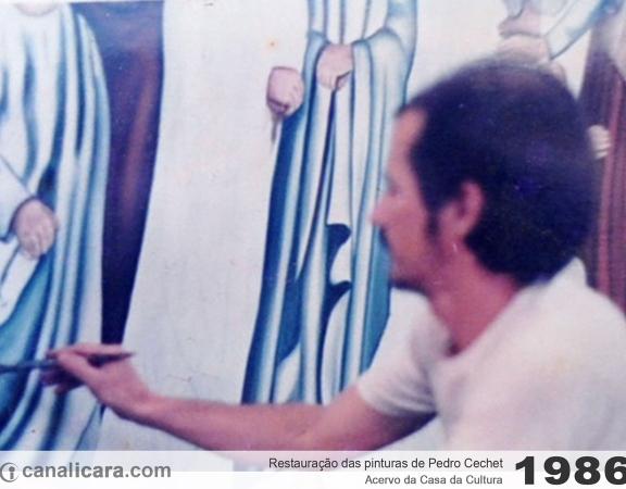 1986: Restauração das pinturas de Pedro Cechet