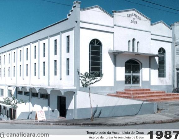 1987: Templo sede da Assembleia de Deus