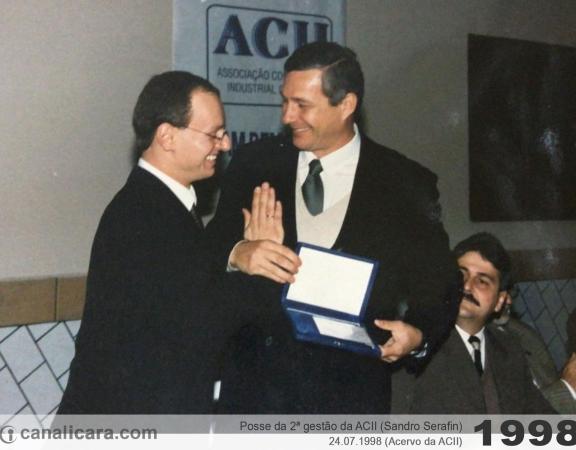 1998: Posse da 2ª gestão da ACII