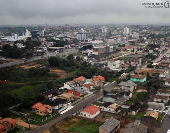 Vista aérea do Centro de Içara